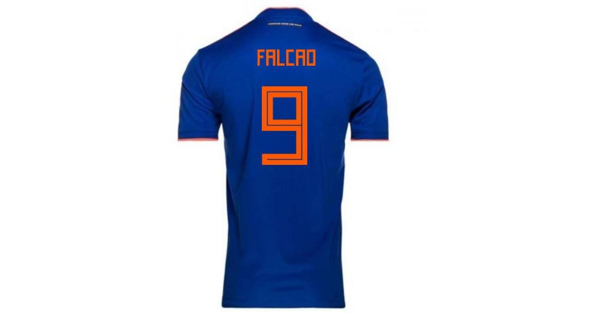 4a0b1317aafd2 Adidas - 2018-2019 Colombia Away Football Shirt (falcao 9) Men's T Shirt In  Blue for Men - Lyst