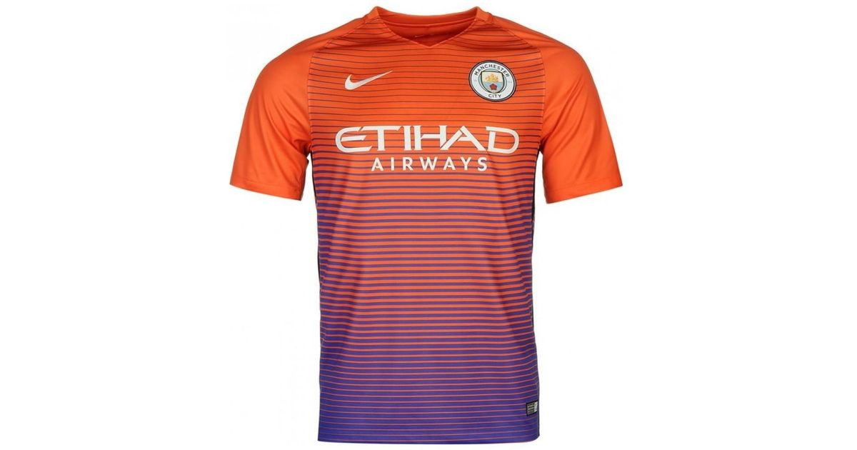 new product 444a9 ac533 Nike 2016-17 Manchester City Third Shirt (sane 19) - Kids Women's T Shirt  In Orange