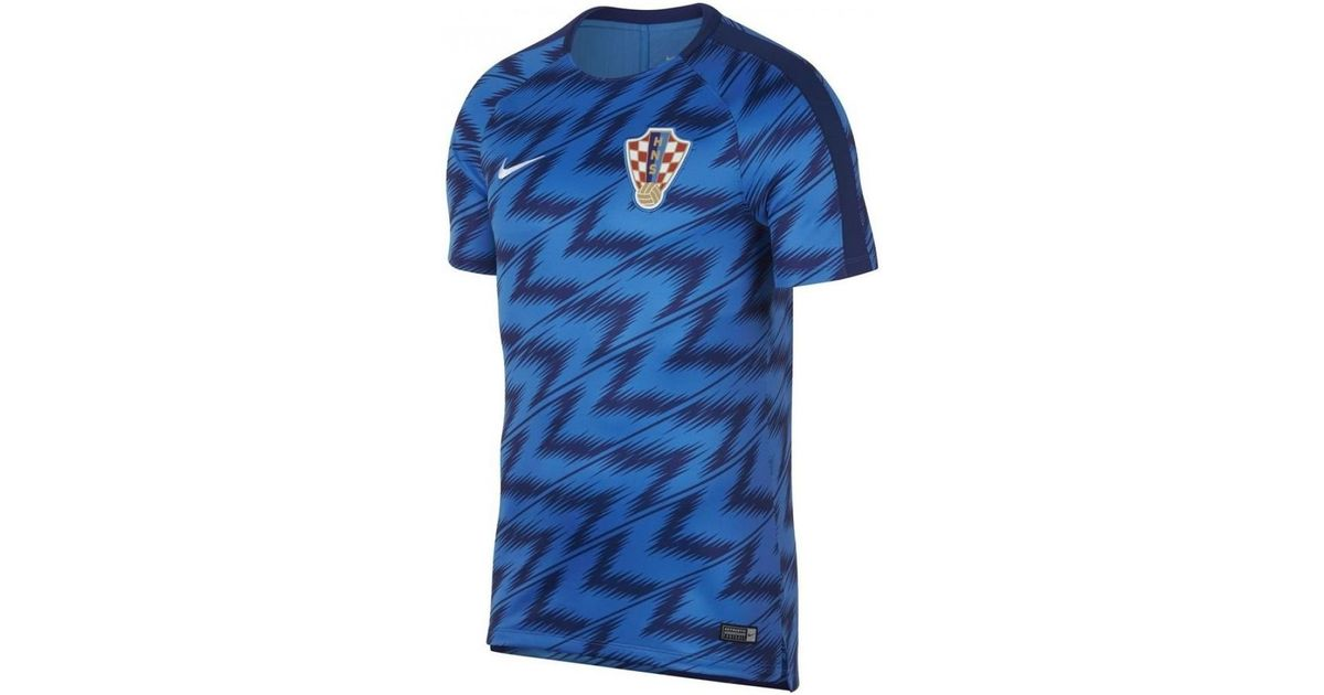 Nike 2018-2019 Croatia Pre-match Training Shirt Men s T Shirt In Blue in  Blue for Men - Lyst 796eea0fe