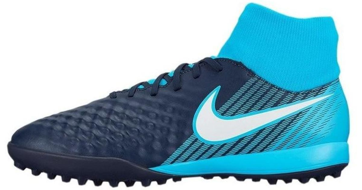 size 40 94369 6ff64 Nike Magistax Onda Ii Df Tf Men s Shoes (high-top Trainers) In Blue in Blue  for Men - Lyst