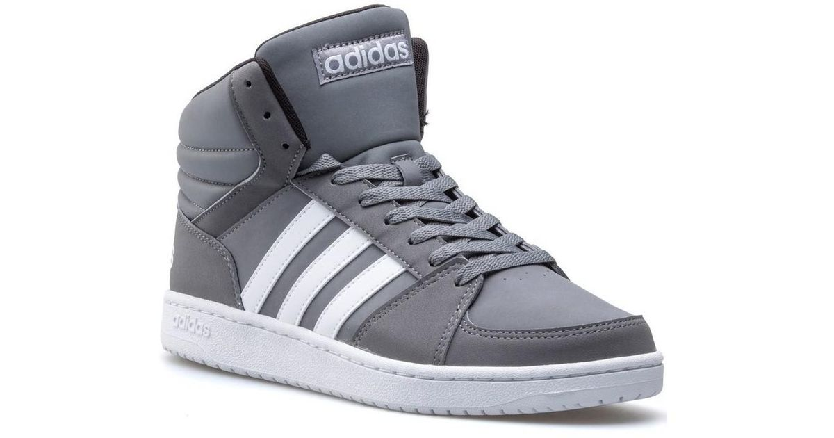 adidas high top trainers grey