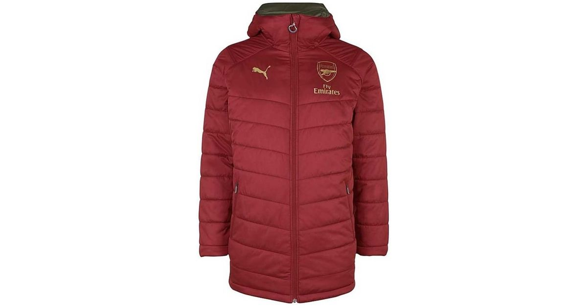7793b0808910 PUMA 2018-2019 Arsenal Reversible Bench Jacket Men s Jacket In Red in Red  for Men - Lyst