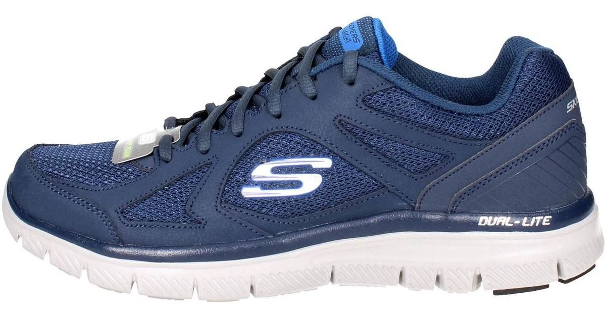 hot sales 34f51 4437a skechers-blue-58352nvbl-Low-Sneakers-Man-Blue-Mens-Shoes -trainers-In-Blue.jpeg