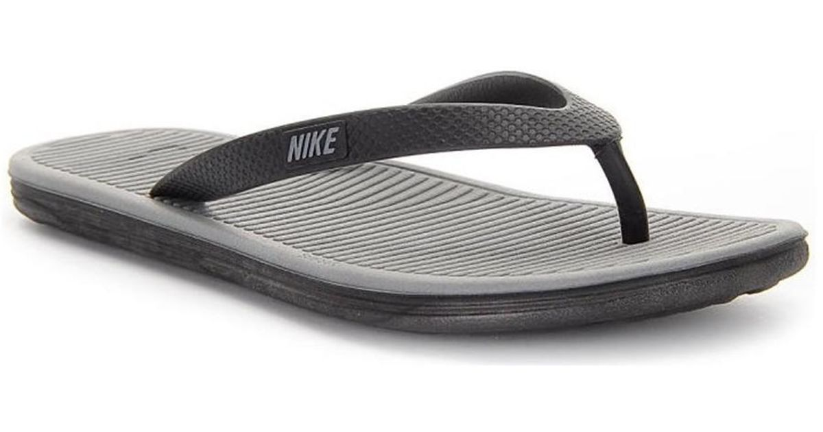 a357bf8eedb ... cheap nike solarsoft thong ii mens flip flops sandals shoes in grey in  gray for men