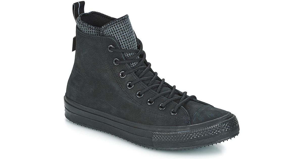 Converse Chuck Taylor All Star Wp Boot Leather Hi Shoes (high-top Trainers)  in Black for Men - Save 17% - Lyst 0c8310e7f