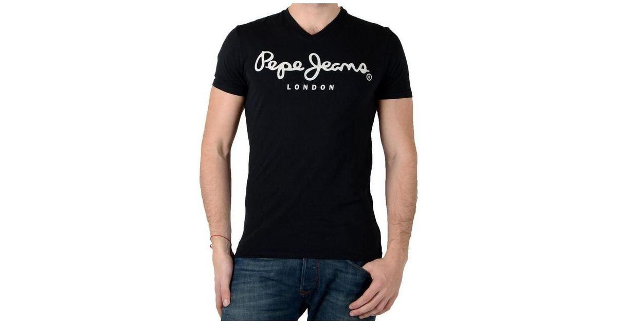 Hommes En Homme Original Noir Stretch Pour Pepe Shirt T Lyst Jeans 6UETwP