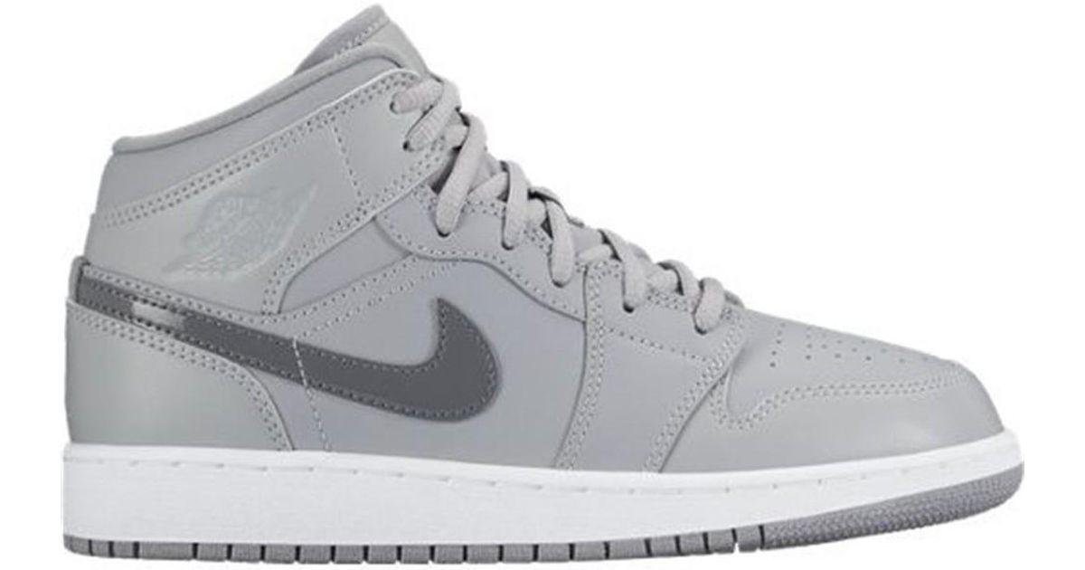 promo code d82f3 179ae Nike - Gray Air Jordan 1 Mid Bg Women's Shoes (high-top Trainers) In  Multicolour - Lyst
