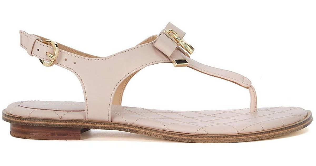 f33531463 MICHAEL Michael Kors Alice Pink Leather Sandal With Bow And Pendant Women s  Sandals In Pink in Pink - Lyst