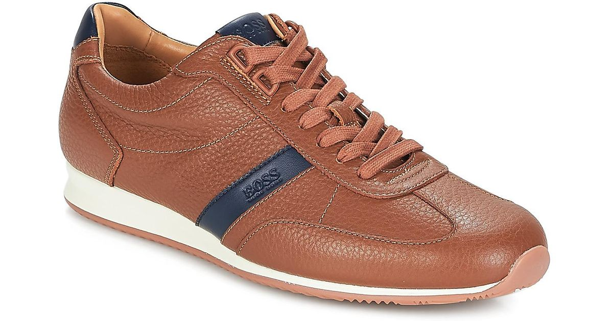 3d03ac36105 BOSS by Hugo Boss Orland Lowp Tb Men s Shoes (trainers) In Brown in Brown  for Men - Lyst
