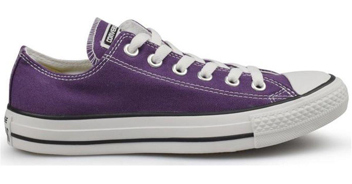 acd2c4bfca36 Converse A s Seas Ox Purple Women s Shoes (trainers) In Purple in Purple -  Lyst
