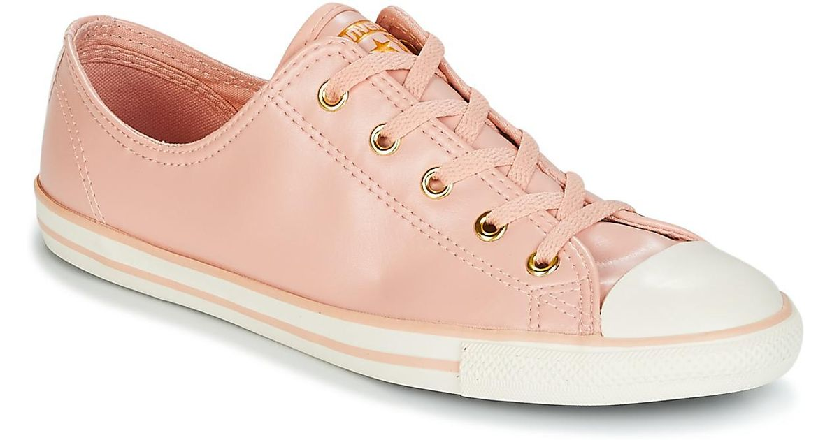774040fe136c Converse Chuck Taylor All Star Dainty Ox Women s Shoes (high-top Trainers)  In Pink in Pink - Lyst