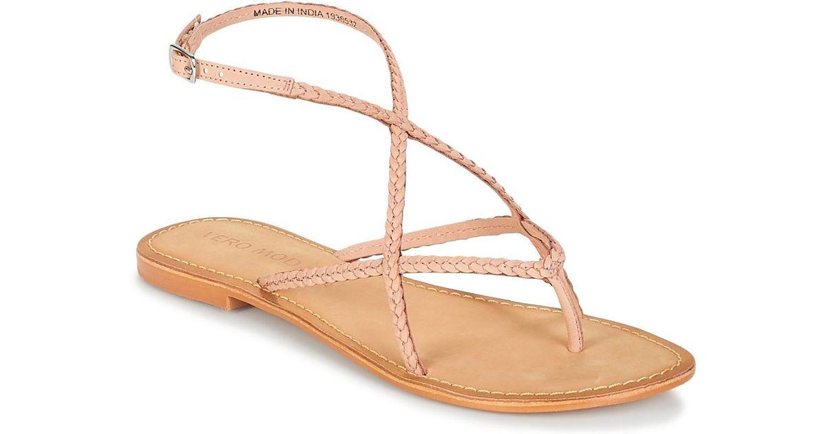 Vero Moda Leather Sandals Women brown original Y0CMGY0XD