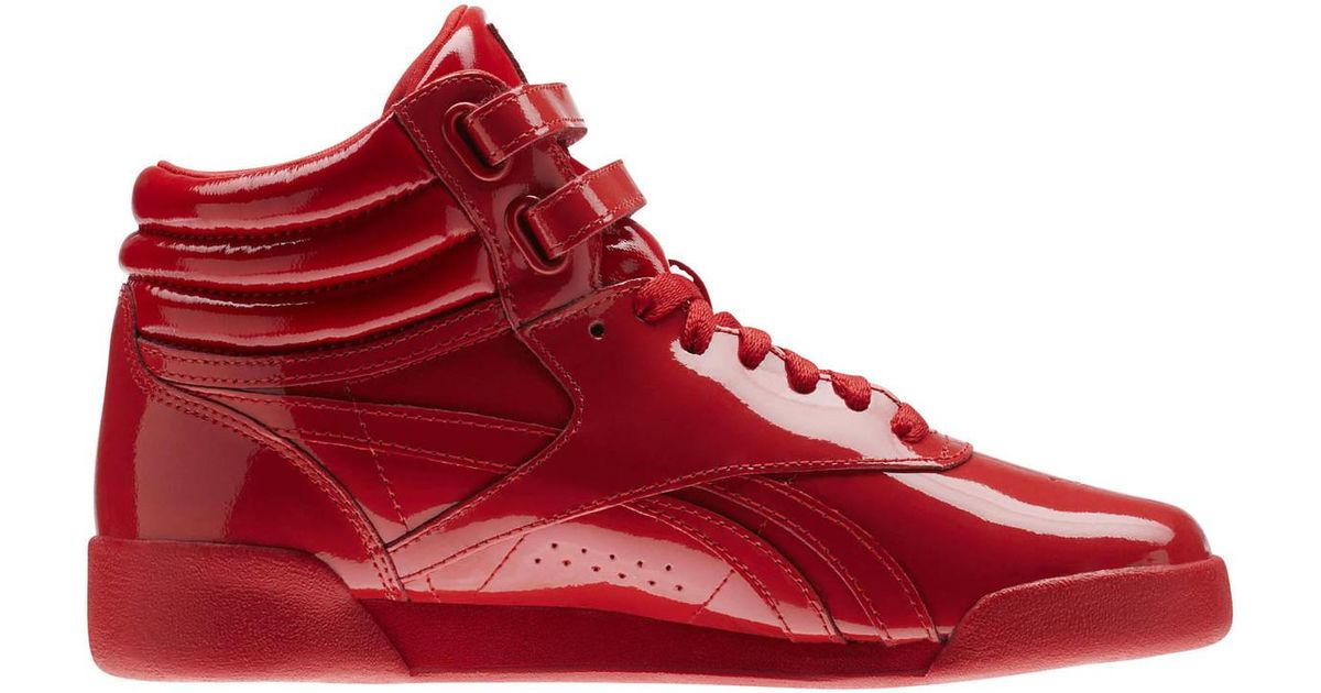 0c60bc1052b81 Reebok Freestyle Hi Patent Leather Cn2078 Women s High Boots In Red in Red  for Men - Lyst