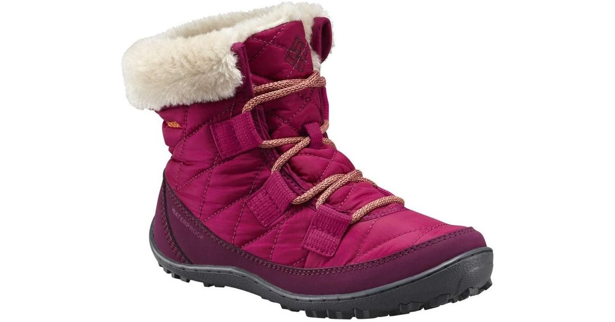 9773e6a4a51752 Columbia Youth Minx Shorty Omniheat Women's Snow Boots In Pink in Pink -  Lyst