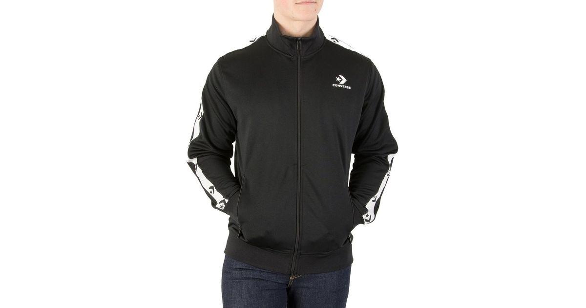 Converse Star Chevron Track Jacket Men s Tracksuit Jacket In Black in Black  for Men - Save 36% - Lyst d54db8147