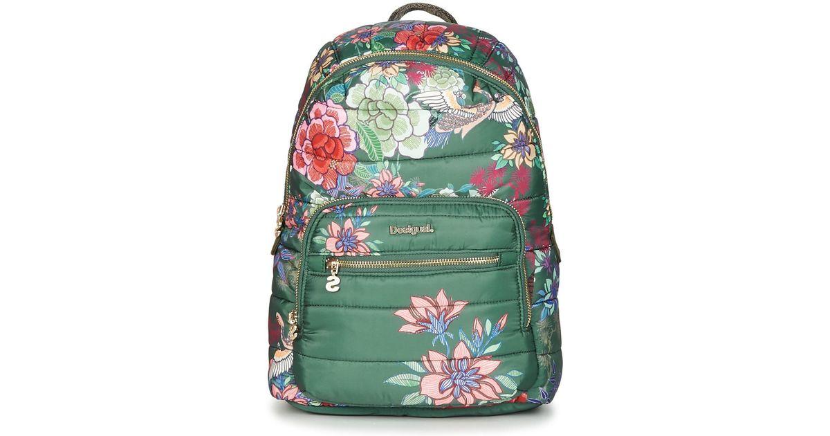 original de costura caliente diversos estilos obtener nueva Desigual Bols_kurosawa Lima, Backpack Handbag, Green (caqui), 11x34x25 Cm  (b X H T)