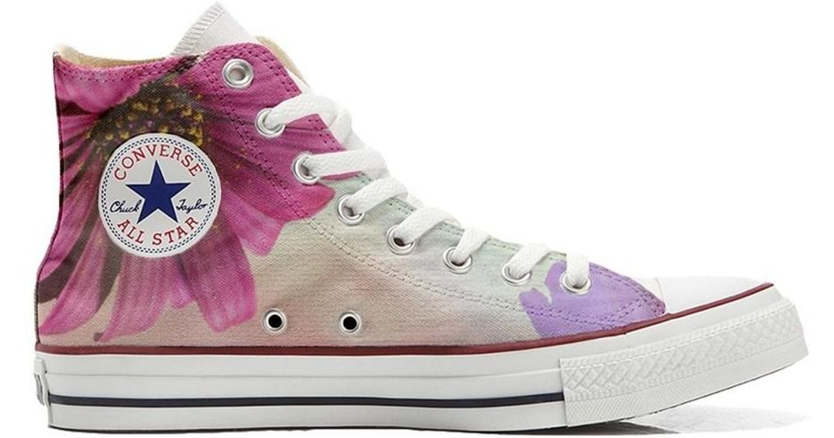 9b520814eec2 Converse Original Customized With Printed Italian Style Handmade Shoes Sp  Women s Shoes (trainers) In Pink in Pink - Lyst