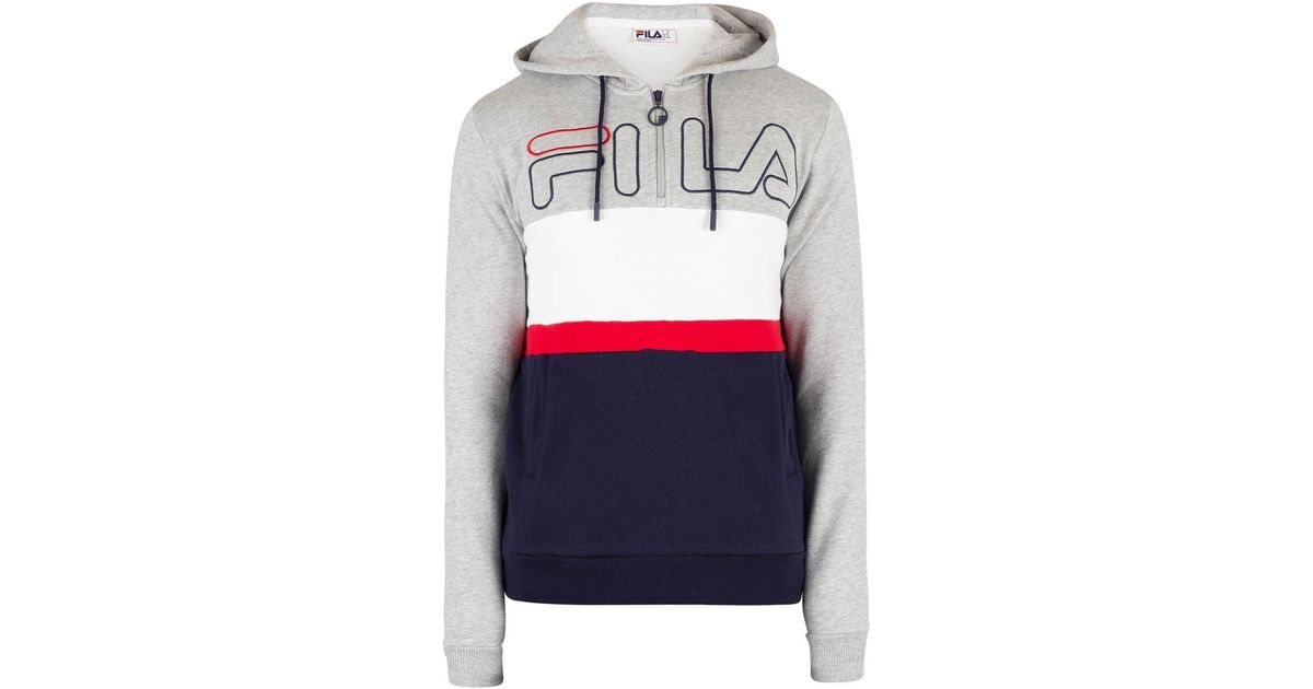 0dffdc7a22dd Fila Men's Rumi Colour Block 1/4 Zip Hoodie, Grey Men's Sweatshirt In Grey  in Gray for Men - Lyst