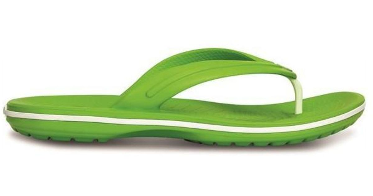 45fd165f8019c1 Crocs™ Crocband Flip Flops Thongs Sandals In Volt Green White 11033 Men s  Flip Flops   Sandals (shoes) In Green in Green for Men - Lyst