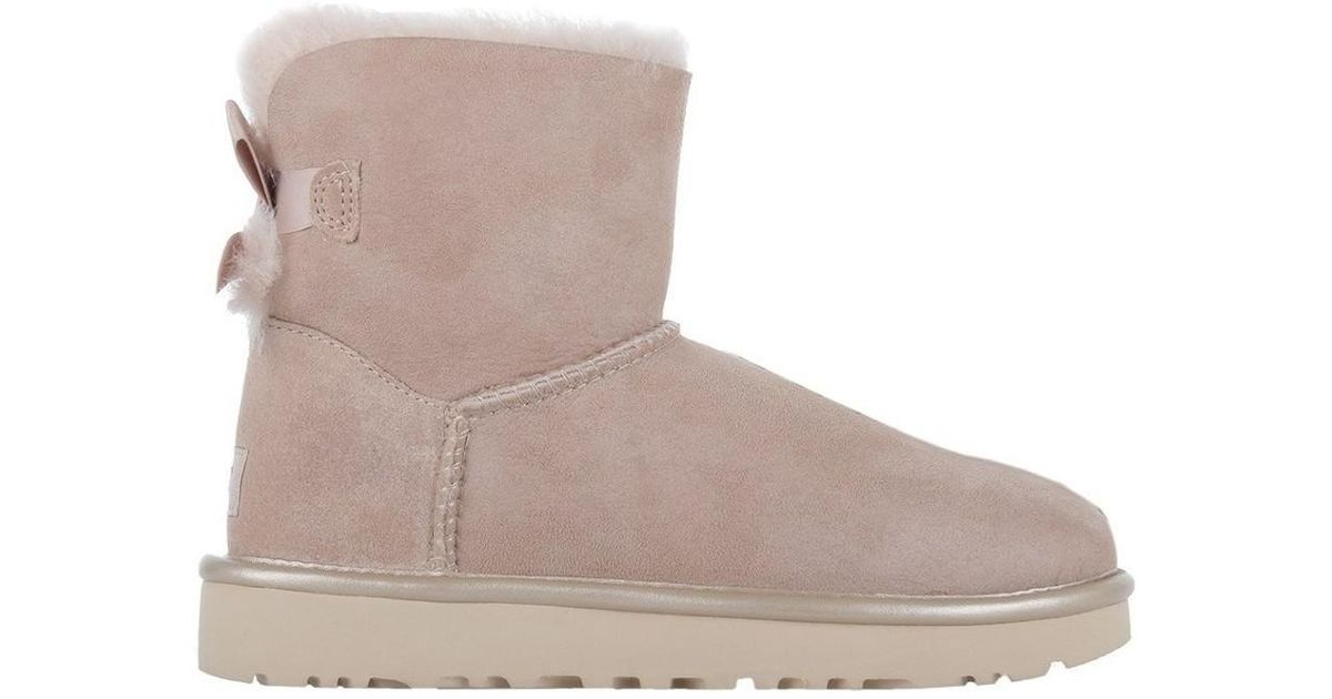 b612beb6369 Ugg - Natural Mini Bailey Bow Ii Metallic Driftwood Women's Snow Boots In  Beige - Lyst