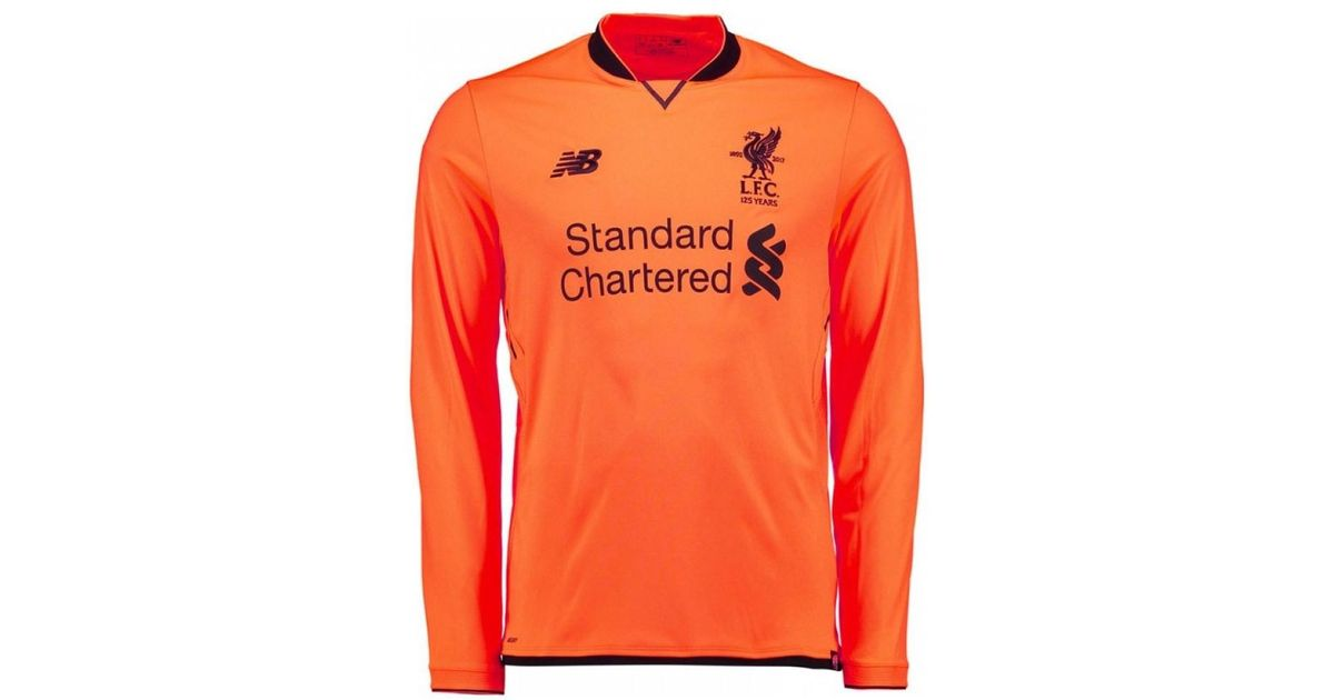 separation shoes 15ba6 44a02 New Balance - 2017-18 Liverpool Long Sleeve Third Shirt (coutinho 10) Men's  In Orange for Men - Lyst