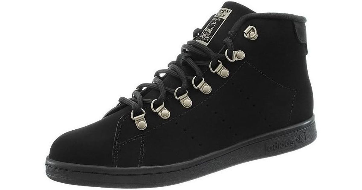 eb8da8a13715f2 adidas Stan Smith Winter Men s Shoes (high-top Trainers) In Black in Black  for Men - Lyst