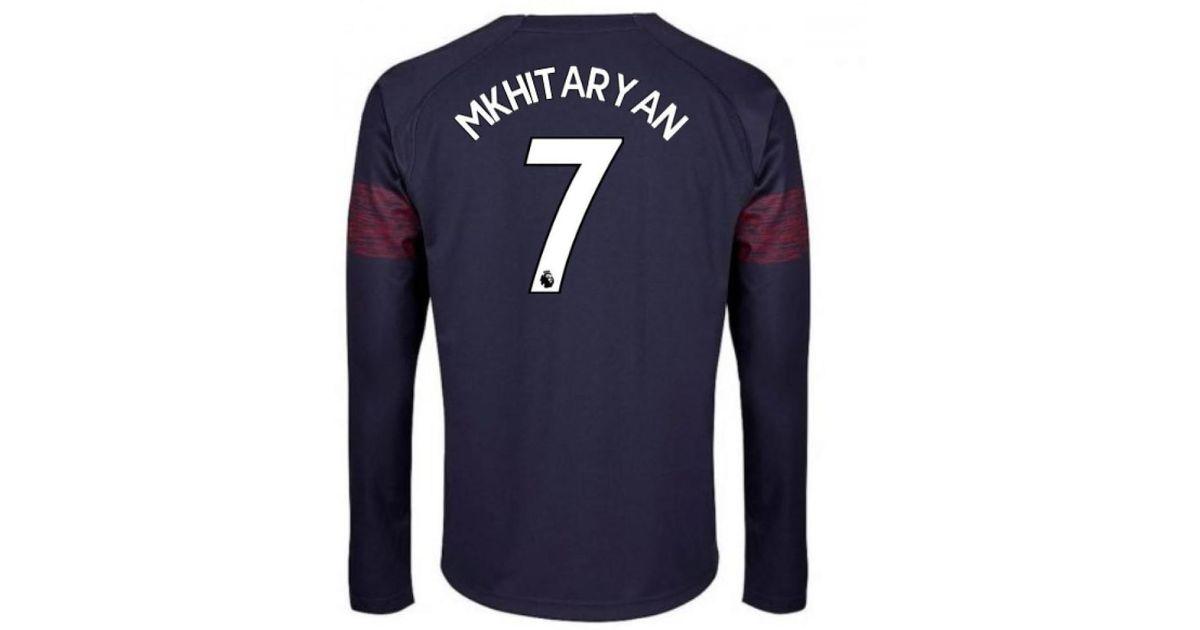 PUMA 2018-2019 Arsenal Away Long Sleeve Shirt (mkhitaryan 7) Men s In Blue  in Blue for Men - Lyst b9843f391