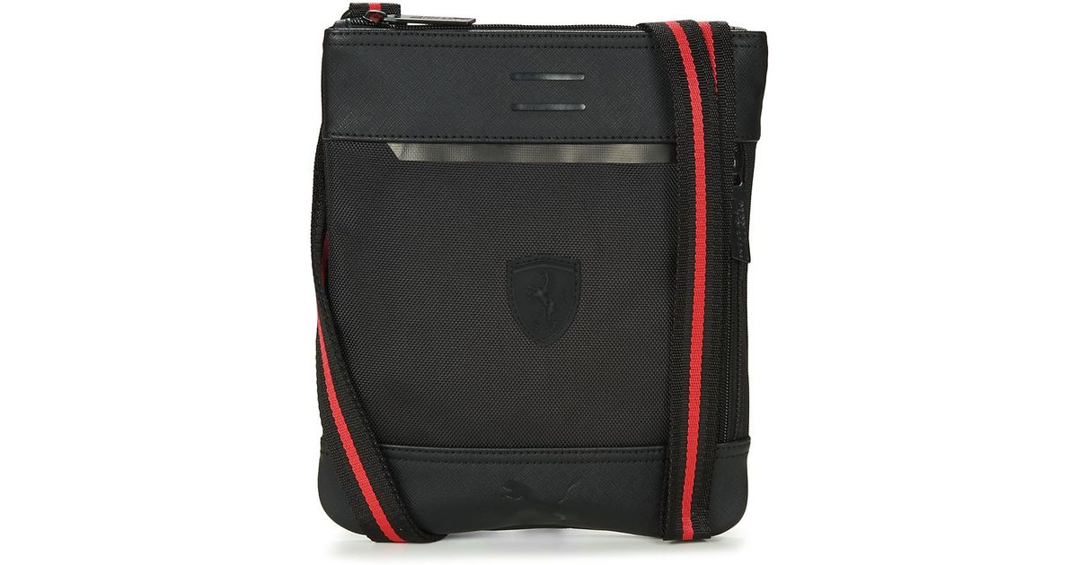 b058705692 PUMA Ferrari Ls Flat Portable Men s Pouch In Black in Black for Men - Lyst