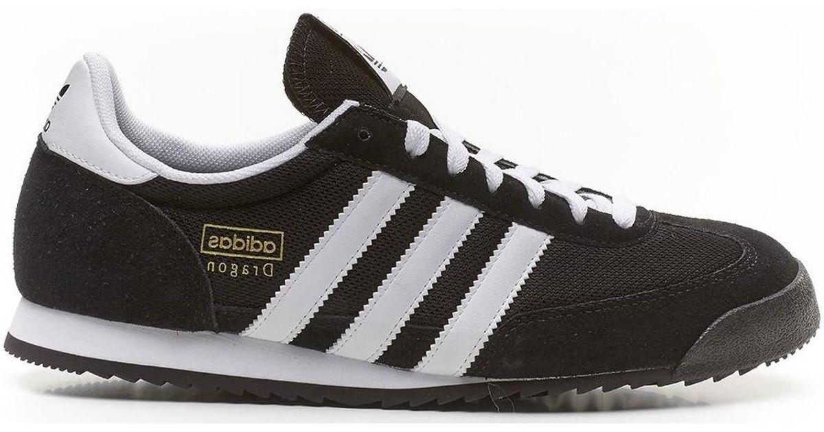 adidas Originals Dragon Retro Trainers Black White G16025 Men s Shoes  (trainers) In Black in Black for Men - Lyst 0fa19a069