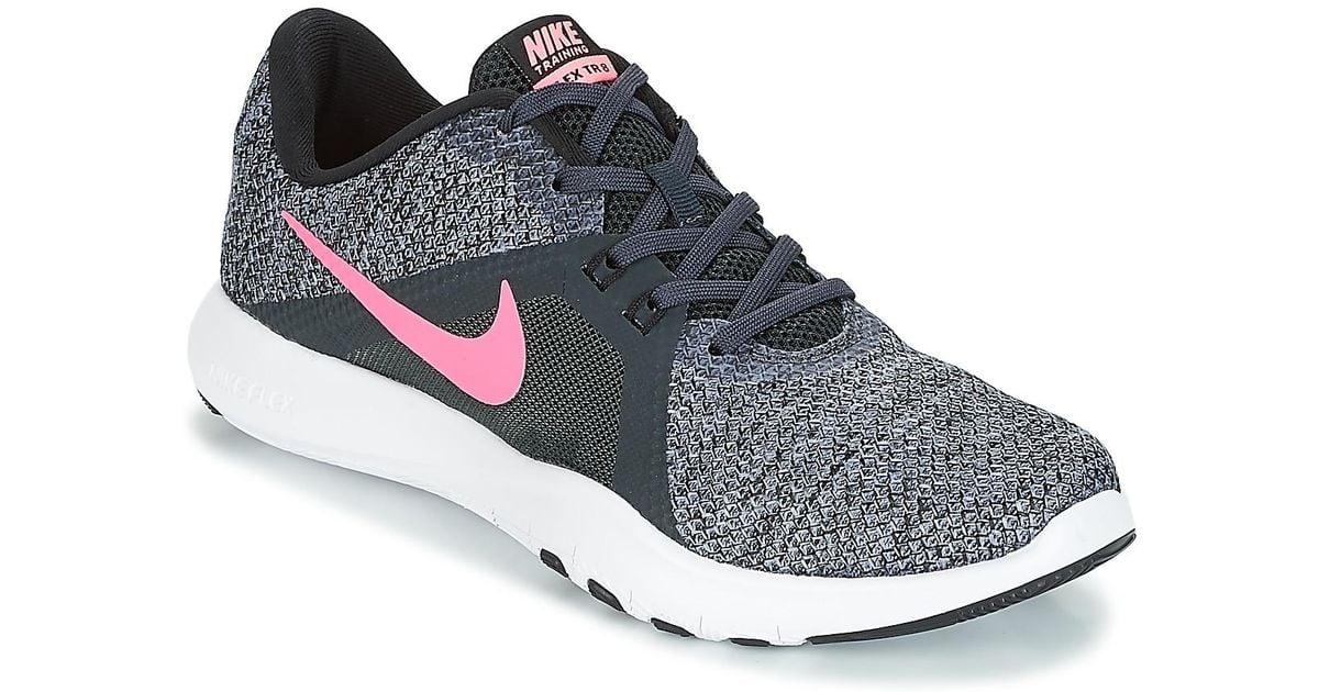 69b9d31a9541 Nike Flex Tr 8 W Trainers in Black - Lyst