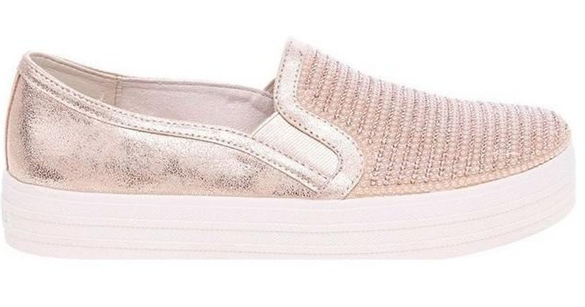 890daa0af3e Skechers Double Up Shiny Dancer Rose Gold 801 Rsgd Men s Shoes In  Multicolour in Pink - Lyst