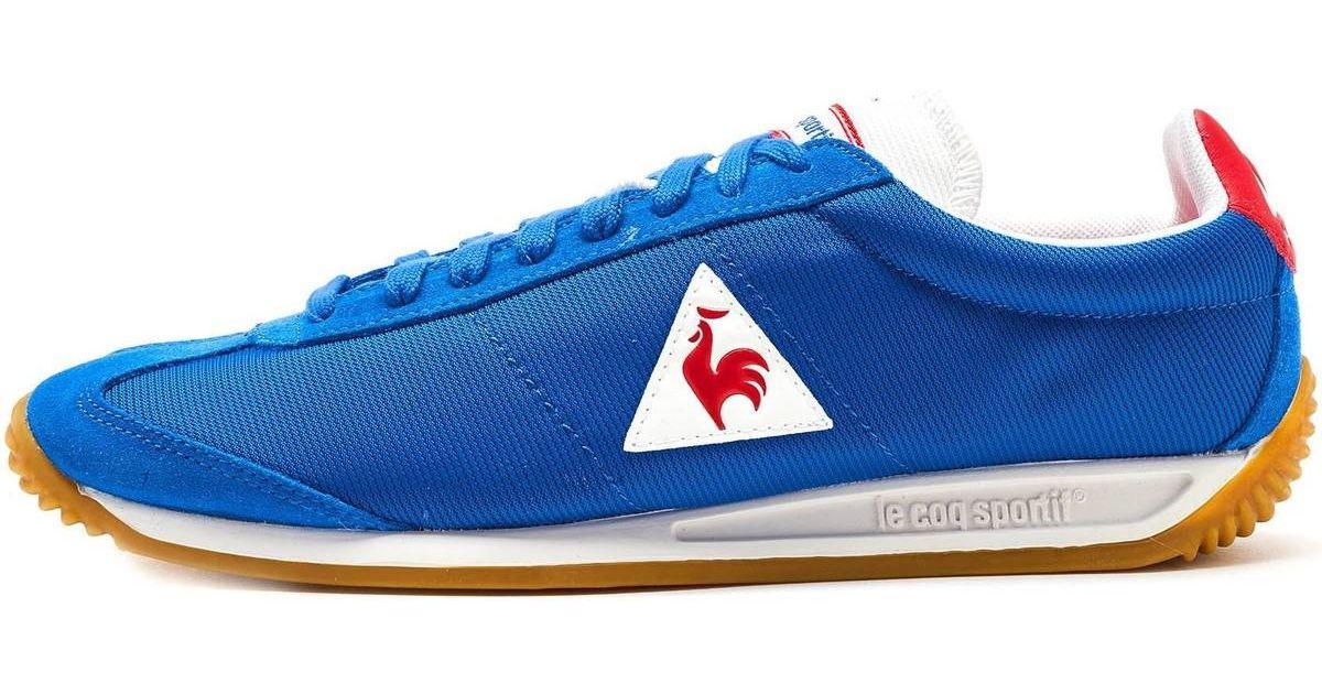 the latest d31d9 ffc77 Le Coq Sportif Quartz Nylon Gum Trainers In Classic Blue Vintage Red  181f300 Women s Shoes (trainers) In Blue in Blue - Lyst