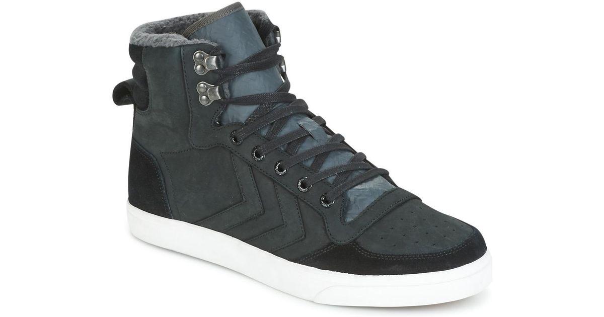 d2bfa4fe Hummel Stadil Winter Women's Shoes (high-top Trainers) In Black in Black -  Lyst