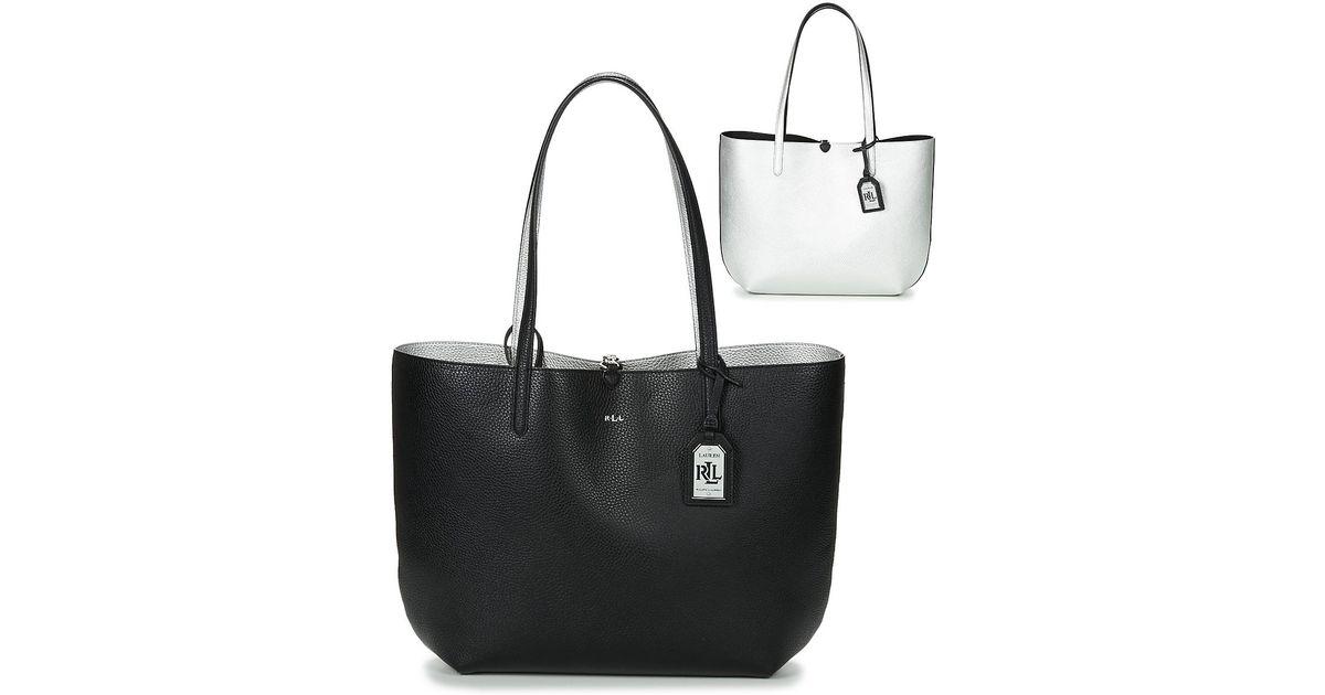 650e87d8b8c Lauren by Ralph Lauren Milford Olivia Tote Women s Shopper Bag In Black in  Black - Lyst