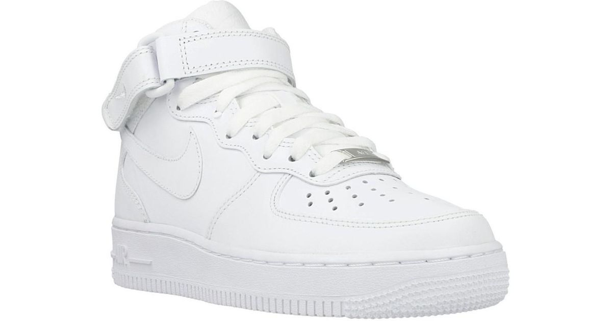 newest 02825 4efe6 Nike Wmns Air Force 1 Mid 07 Women s Shoes (high-top Trainers) In White in  White - Lyst