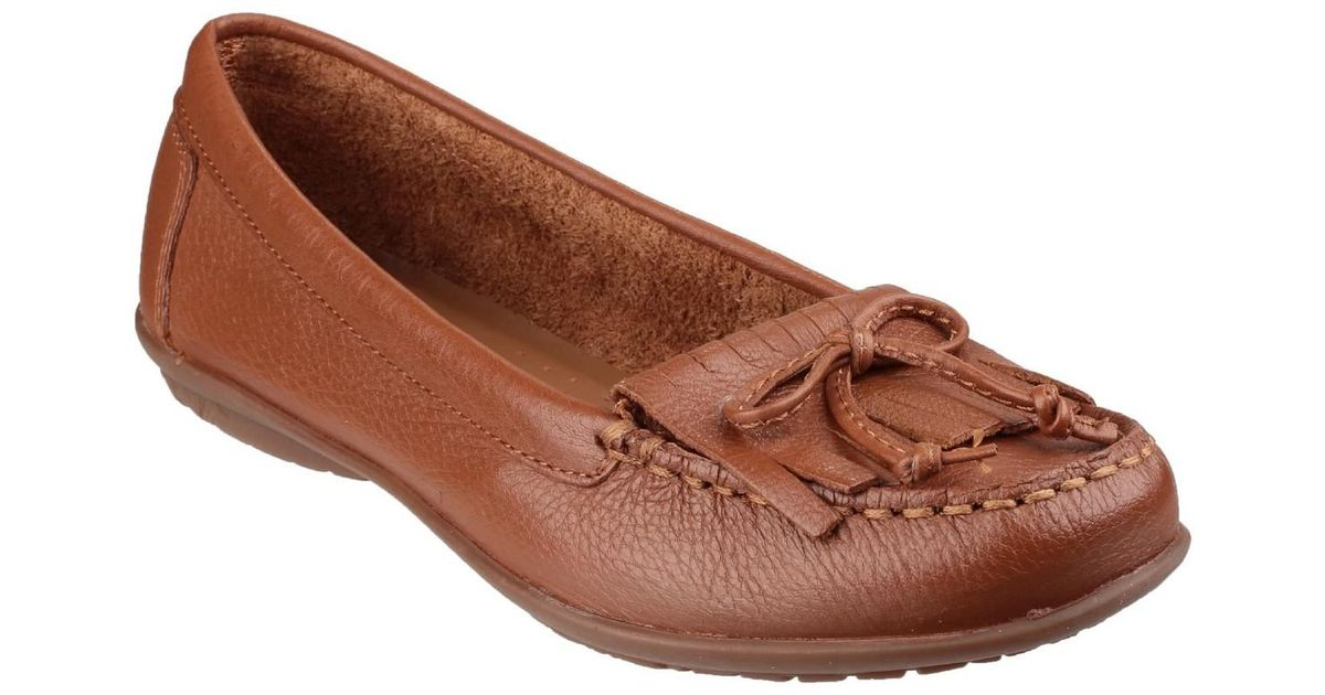 cc6e41c69cb Hush Puppies Womens ladies Ceil Mocc Kilty Slip On Loafers Women s In Brown  in Brown - Lyst