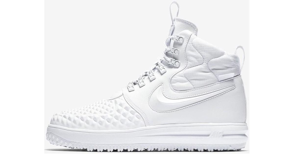 new concept 110a3 90f1f Nike Lunar Force 1 Duckboot 17 Premium All White Aa1123 100 Men s Shoes  (trainers) In White in White for Men - Lyst