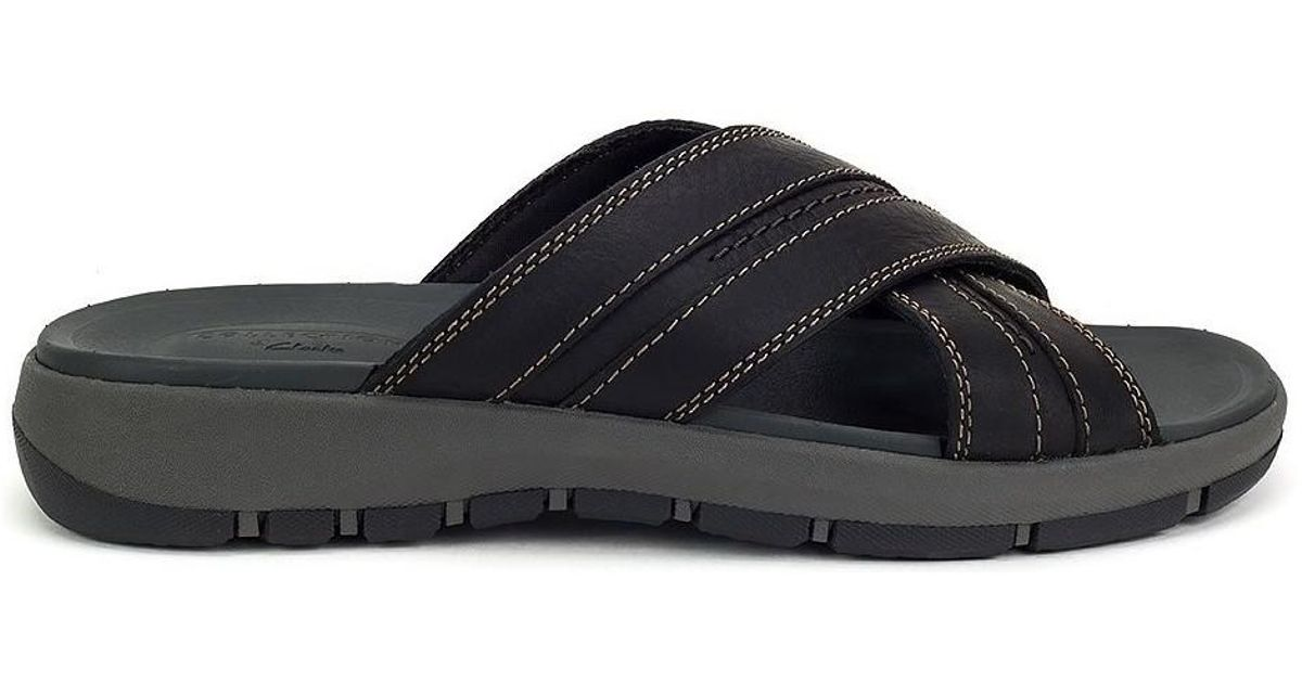 d8825c79cfda9 Clarks Brixby Cross Men's Flip Flops / Sandals (shoes) In Black in Black  for Men - Lyst