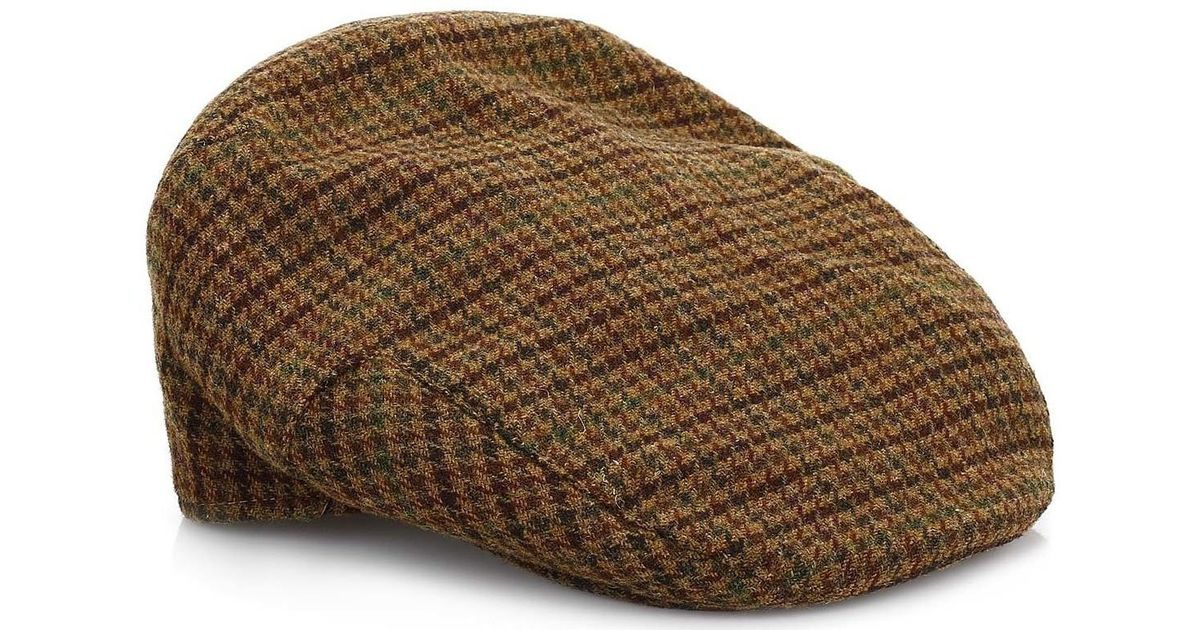 ffcd820f948 Barbour Mens Dark Brown Club Check Crieff Cap Men s Hat In Brown in Brown  for Men - Lyst