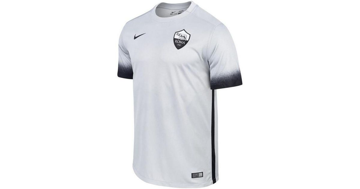 Nike 2015-2016 As Roma Third Football Shirt (kids) Women s T Shirt In Grey  in Gray - Lyst 879128beb6
