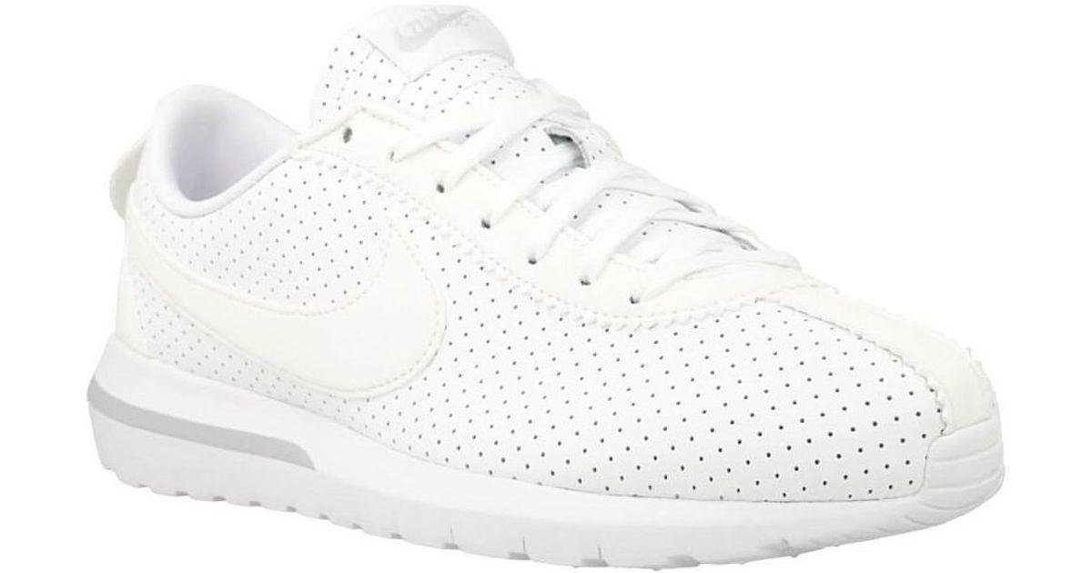 6f96f8cbf24f Nike W Roshe Cortez Nm Women s Shoes (trainers) In White in White - Lyst