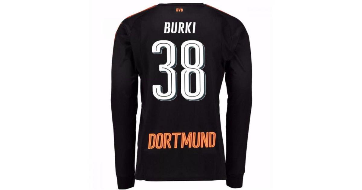 93f5b01df PUMA 2017-18 Borussia Dortmund Home Goalkeeper Shirt (burki 38) Women s In  Black in Black for Men - Lyst