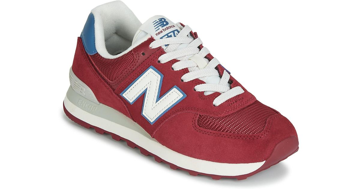 super popular c2199 ea52a New Balance - Red Ml574 Shoes (trainers) - Lyst