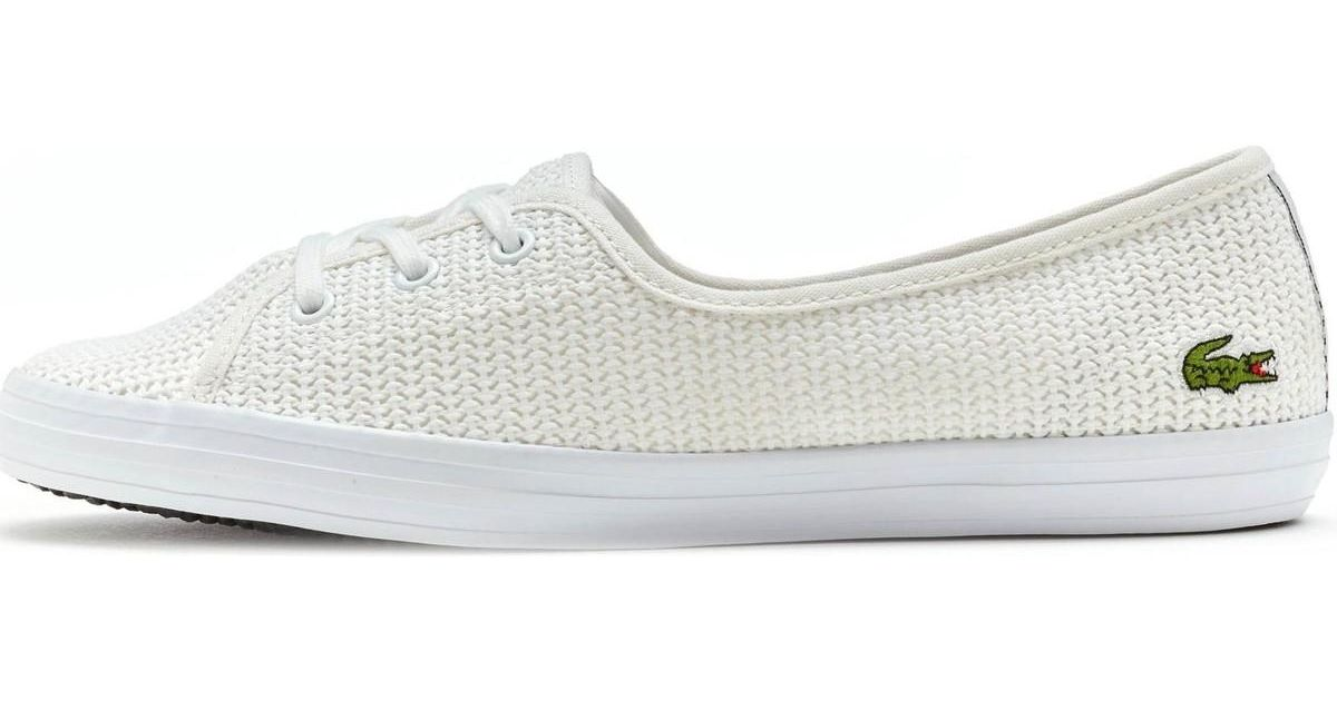 cc4782f4a Lacoste Ziane Chunky 217 1 Caw Trainers In White 733caw1075 001 Women s  Shoes (trainers) In White in White - Lyst