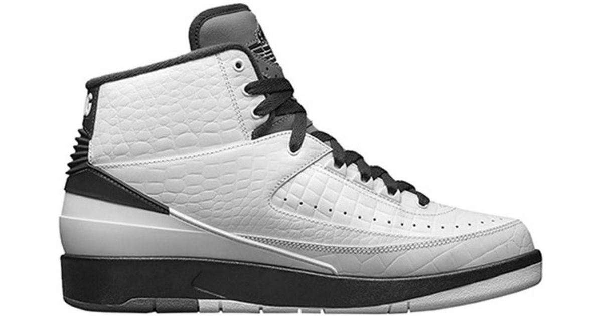 new style 91ae3 d8919 Nike - Jordan Ii Retro Men's Low Ankle Boots In White for Men - Lyst
