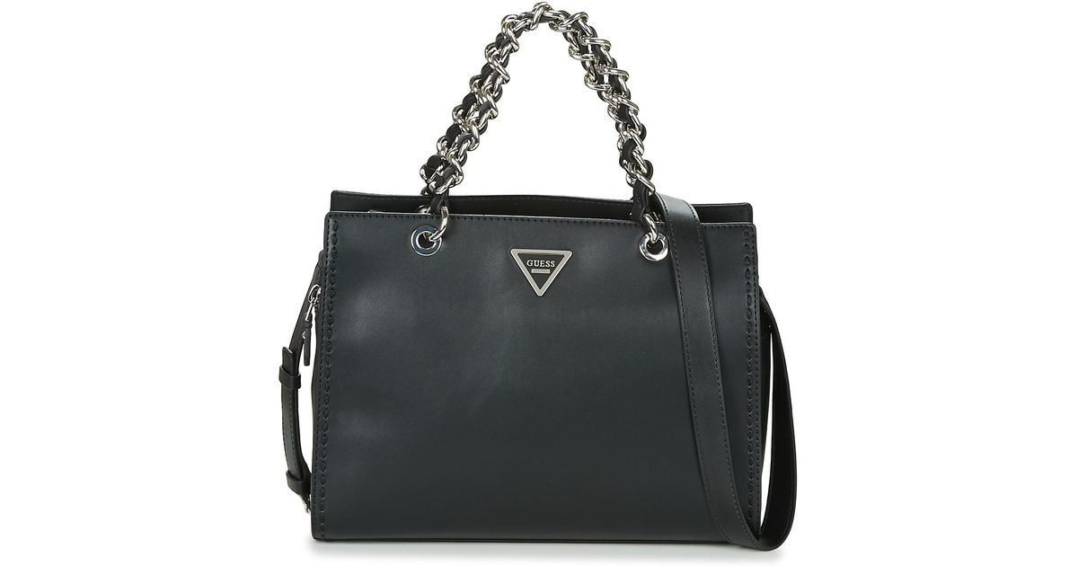 Guess Sawyer Satchel Women s Handbags In Black in Black - Lyst f9e7da17877a8