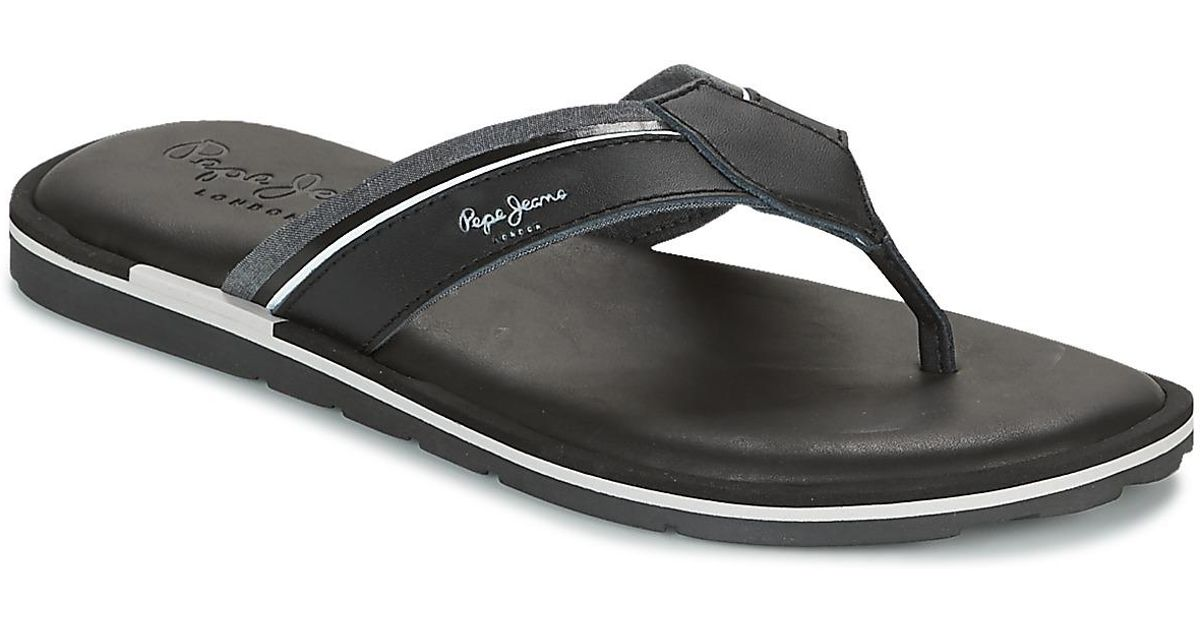 6f118138f4c6 Pepe Jeans Barrel Fabric Flip Flops   Sandals (shoes) in Black for Men -  Save 6% - Lyst