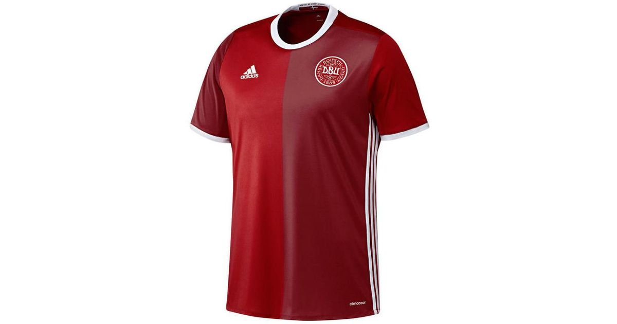 36b9bfdb0 Adidas 2016-2017 Denmark Home Football Shirt (kids) Women s T Shirt In Red  in Red for Men - Lyst