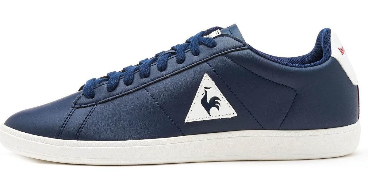 12bbcbef28e5 Le Coq Sportif Courtset S Lea Trainers In Dress Blue Vintage Red 172f138  Men s Shoes (trainers) In Blue in Blue for Men - Lyst
