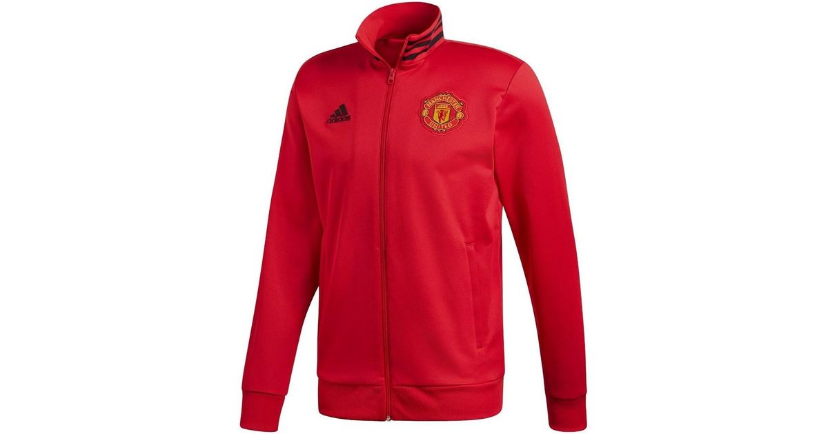 7df4b2364beaa adidas 2018-2019 Man Utd 3s Track Top Men's Tracksuit Jacket In Red in Red  for Men - Lyst